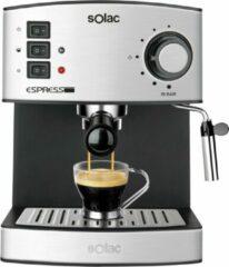 Zwarte Solac CE4480 Vrijstaand Half automatisch Espressomachine 1.2l 2kopjes Roestvrijstaal koffiezetapparaat