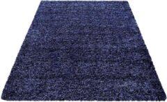 Decor24-AY Hoogpolig vloerkleed Life - marineblauw - 120x170 cm