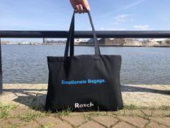 Blauwe Rosch Amsterdam Rosch Boodschappen / Strand Shopper 'Emotionele Bagage.'