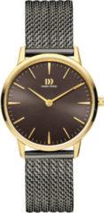 Gouden Danish Design watches edelstalen dameshorloge Akilia Grey Gold Mesh Medium IV70Q1251