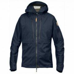 Blauwe Fjällräven - Keb Eco-Shell Jacket - Hardshelljack maat XL zwart/blauw