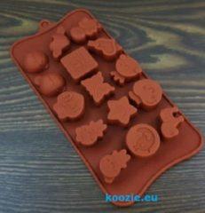 Bruine Koozie.eu EIZOOKSHOP Vorm Diertjes - Kip - Hart - Kindjes - Vlinder - Ster - Chocolade - Fondant - Klei