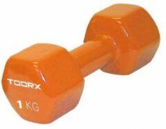 Grijze Toorx Fitness Toorx Vinyl Dumbbell - Gewichten - per Stuk - Oranje - 1 kg