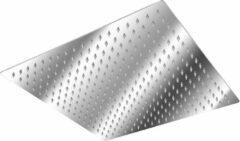Roestvrijstalen Tectake RVS regendouche douchekop vierkant 40x40cm 401601