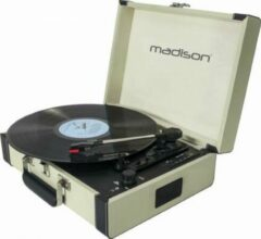 Madison MAD-RETROCASE-CR Vintage draaitafelkoffer met bluetooth usb sd & rec functie