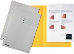 Grijze Esselte dossiermap grijs karton van 180 g/m�� pak van 100 stuks