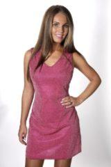 CHIAMAX Glitter, glinster jurkje roze S/M