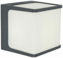 LUTEC Telin buitenverlichting LED wandlamp 1 lichts donkergrijs IP54