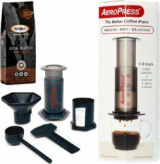 Aerobie Aeropress Coffee Maker + Bristot 100% Arabica gemalen koffie 250gr