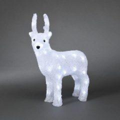 Konstsmide 6157 - Verlicht kerstfiguur - 40 lamps LED acryl rendier - 29x38cm - 24V - voor buiten - koelwit