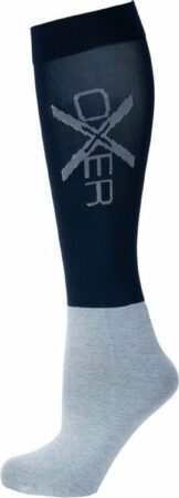 Afbeelding van Donkerblauwe Oxer Socks Unisex Ruitersokken Maat 40-46