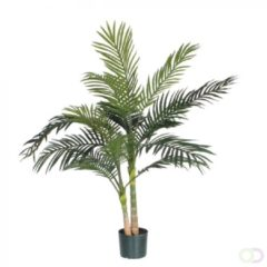 Groene Mica Decorations Mica flowers - areca palm h120d100 groen