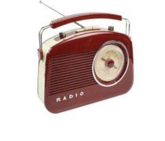 KOENIG König AM/FM-Radio Retro-Design in verschiedenen Farben Farbe: Braun