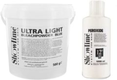 [Combo] Showtime Ultralight Blondeerpoeder (500gram) + Showtime Oxidant Creme Peroxide 12% - (1000ml)
