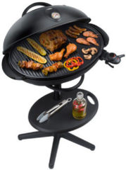 Steba Germany VG 350 Elektrische barbecue Uitvoering: Vaste Thermometer in deksel Zwart