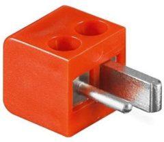 Rode Loudspeaker connector mannelijk rood - schroefbaar