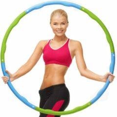Weight hoop Original - Fitness Hoelahoep - Met DVD - 1.5 kg - Ø 100 cm - Groen/Blauw