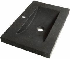 Sanituba Corestone SMALL wastafel basalt met kraangat 60cm
