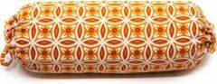 Spiru Yoga Mini Nek Bolster Oranje Rond Katoen – 34 x 10 x 10 cm