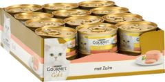 Gourmet Gold Mousse Zalm kattenvoer 1 tray (24 blikken)