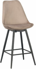 Zandkleurige Pole to Pole - Leaf kitchen bar chair - Sand White