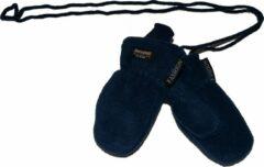 Donkerblauwe P&T Wanten Kinderen 3j. Donker Blauw met Touwtje, Fleece |Dubbel gevoerd Thinsulate