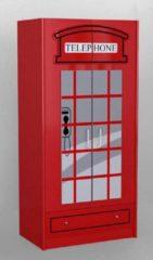 Vipack London Kledingkast Rood