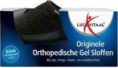 Lucovitaal Orthopedische Gel Sloffen Zwart 44-45 - 3x1 paar - Voordeelverpakking