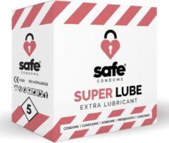 Transparante SAFE - Condooms - Extra Glijmiddel (5 stuks) - Condooms