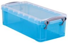 Really Useful Box opbergdoos 0,9 liter transparant blauw