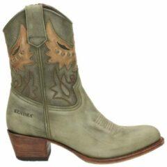 Groene Sendra 16227 Debora cowboylaars - Kaki - Maat 37