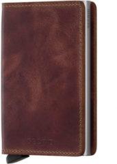 Bruine Secrid Slim Wallet Portemonnee Vintage Brown
