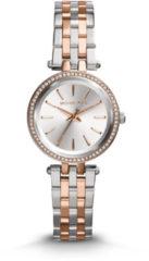 Michael Kors MK3298 Horloge Mini Darci staal zilver- en rosekleurig 33 mm
