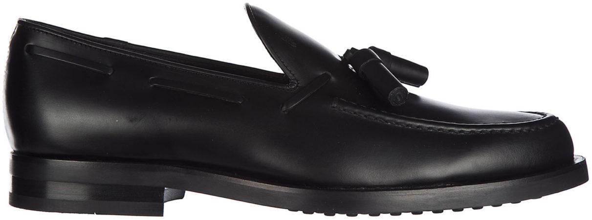 Immagine di Nero Tod's Mocassini uomo in pelle pantofola nappina formale