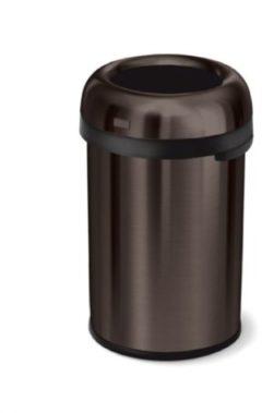 Bronze Simplehuman Afvalemmer Bullet Open Top Can - 115 liter - Brons