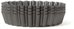 Zwarte Point-Virgule Bakvorm - 4 mini taartvormen - Anti-aanbaklaag - Losse bodem - ø 10cm
