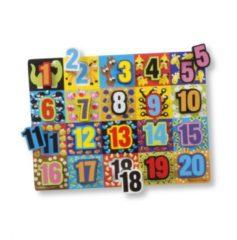 Melissa & Doug vormenpuzzel Numbers Chunky junior hout 20 stukjes