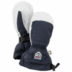 Hestra - Kid's Army Leather Heli Ski Mitt - Handschoenen maat 4, blauw/grijs/wit