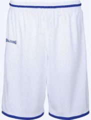 Spalding Move Basketbalshort - Wit / Royal | Maat: XXL