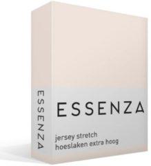 Roze Essenza Premium Jersey Hoeslaken Extra Hoog - 97% Gebreide Katoen - 3% Elastan - 2-persoons (140/160x200/220 Cm) - Rose