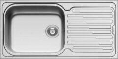 NORD INOX Gootsteen Amaplus ingebouwd 1 grote bak + 1 lekbak Honingraat - roestvrij staal - 50 x 40 x 20 cm