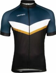 Blauwe Vermarc Puntino SP.L Jersey Black/Petrol/Gold Size S