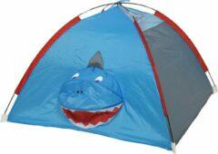 Blauwe Decoris Speeltentjes/speelhuisjes/kindertentjes haai 120 x 120 x 80 cm - Kinderspeelgoed