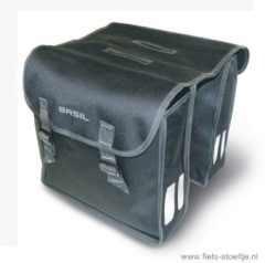 Zwarte Basil Mara XL dubbele fietstassen (26 liter) - Fietstassen