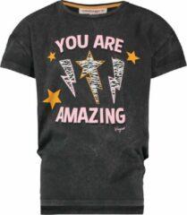Zwarte Vingino T-shirt Hedika Meisjes T-shirt Maat 110