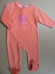 Oranje Wiplala pyjama orange hartje just love me 1 jaar 80