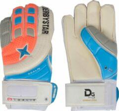 Derbystar Goalie Keepershandschoenen Senior Keepershandschoenen - Unisex - oranje/blauw/grijs/wit Maat 11/ Lengte hand 21cm