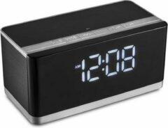 Zwarte PLATINET Platina Bluetooth Speaker met ingebouwde digitale Klok & FM 10W [43975]