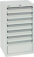 Stumpf Metall Stumpf® STS 410 Schubladenschrank mit 7 Schubladen, lichtgrau - 90 x 50 x 50 cm