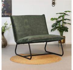Bronx71 Moderne fauteuil Paris velvet Luxury groen
